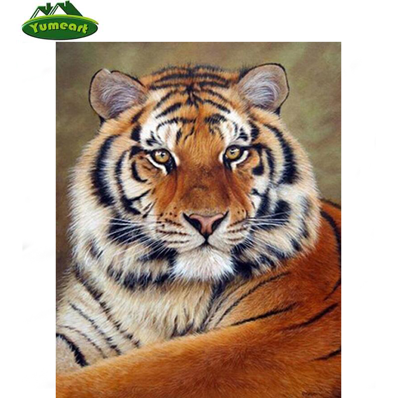 Beauty Life New 3D DIY Diamond painting cross-stitch King Tiger Animals Diamond embroidery cross picture of crystals Craft hobby