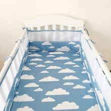 ФОТО s Cotton baby bumper bedding Infant Beautiful Mesh Cot Bumpers born bedding products baby Cot Bed Around Protector