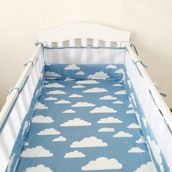 1pcs Cotton baby bumper bedding Infant Beautiful Mesh Cot Bumpers newborn bedding products baby Cot Bed Around Protector baby bed mattress cover soft protector cartoon printed newborn baby bedding for cot 100