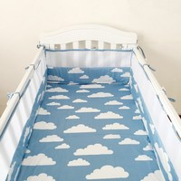 1pcs Cotton baby bumper bedding Infant Beautiful Mesh Cot Bumpers newborn bedding products baby Cot Bed Around Protector