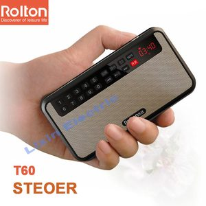 Image 5 - RoltonT60 MP3 נגן מיני נייד אודיו רמקולים 2.1 FM רדיו עם LED מסך תמיכה TF כרטיס משחק מוסיקה גבוהה LED פנס