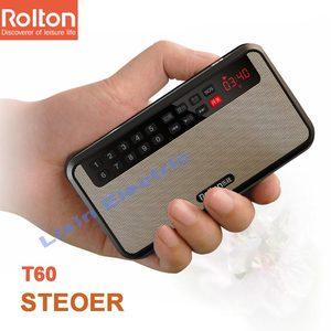 Image 5 - RoltonT60 MP3 Lettore Mini Portatile Audio Altoparlanti 2.1 Radio FM Con Schermo A LED di Sostegno carta di tf di Gioco di Musica di Alta LED torcia elettrica