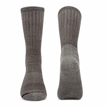 Solid brown 3 pairs/bag Vihir Men's Cushioned Thick Merino Wool Crew Sock for Skiing, Trekking, Hiking цены