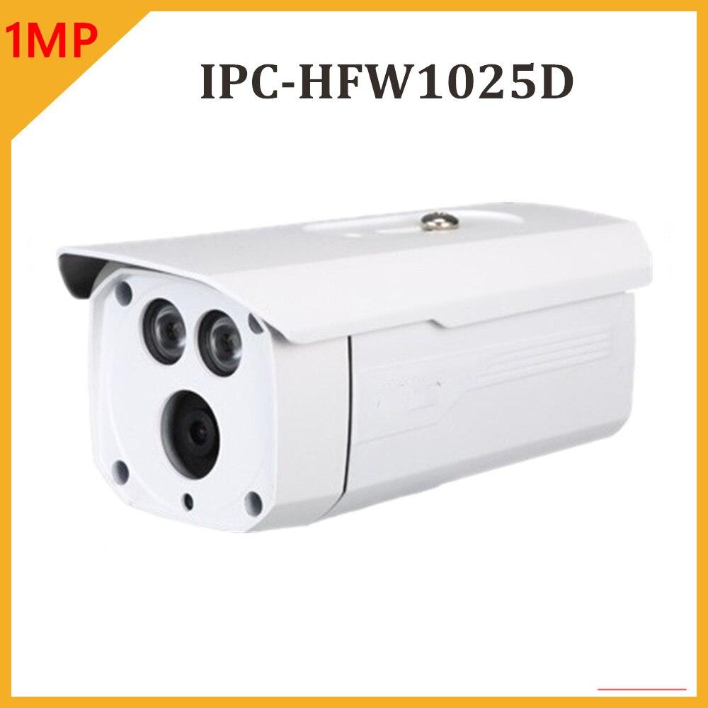 Commercio allingrosso DH IPC-HFW1025D 1MP SMART H.264 Pallottola Network IP Camera Onvif Impermeabile IP67 Macchina Fotografica Esterna di IR 80 mCommercio allingrosso DH IPC-HFW1025D 1MP SMART H.264 Pallottola Network IP Camera Onvif Impermeabile IP67 Macchina Fotografica Esterna di IR 80 m