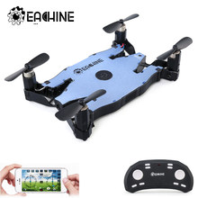 ¡En Stock! Eachine E57 WiFi FPV Selfie Dron con cámara 720P Auto plegable brazo de altitud mantener RC Quadcopter RTF VS H49 h37(China)