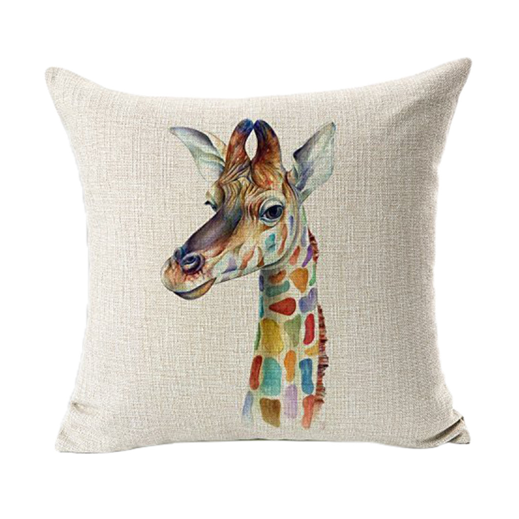 Us 1 88 42 Off Simple Style Long Deer Pillowcase Decorative Body Pillow Case Flax Plain Design Qualified Cover Bedclothes 45cm 45cm 1n2 In Pillow