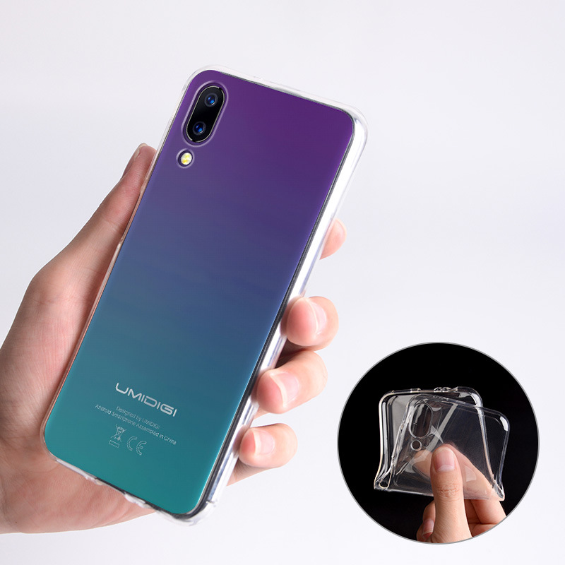 Image 5 - Transparent Glossy Silicone Case For UMIDIGI One PRO ONE MAX A5 Pro UMIDIGI Power TPU Bumper Back Cover Funda Custodia Housse-in Fitted Cases from Cellphones & Telecommunications