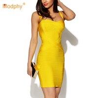 2018 New Women Sexy Spaghetti Strap Rayon HL Elastic Celebrity Bandage Dress Bodycon Mini Club Party Dresses Drop Ship HL8675