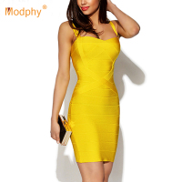 2019 New Women Sexy Spaghetti Strap Rayon HL Elastic Celebrity Bandage Dress Bodycon Mini Club Party Dresses Drop Ship HL8675