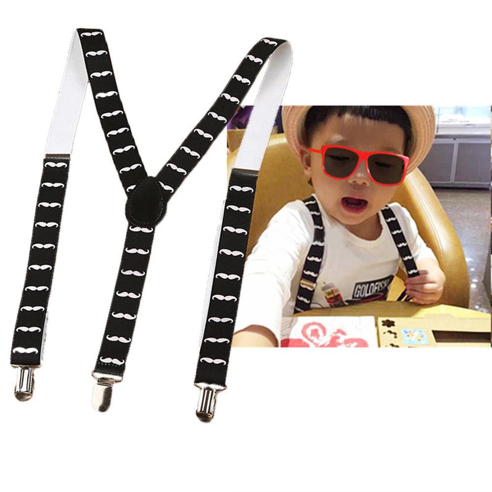Kids Adjustable Y-back Suspender Elastic Belts Straps Print Children Clip-on Braces Suspenders