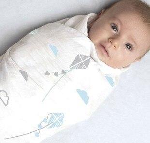 Детское одеяло wikkeldeken inbakeren муслин пеленать couette enfant новорожденных фотографии реквизит аден anais dormir сако ребенка обертывание