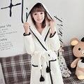 wholesale animal autumn and winter cute flannel men's&&women's robe long sleeve loves couple coral fleece sleep bathrobe