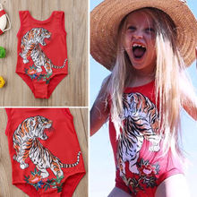2018 Kids Toddler Baby Girl Tiger Swimwear Swimsuit Beachwear Bathing Suit frank