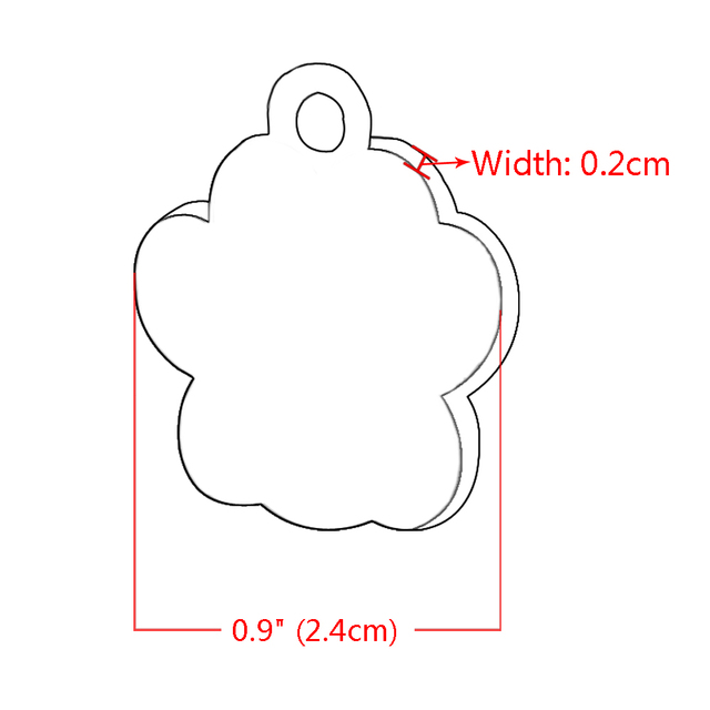 Personalized Dog Tags Engraved Cat Puppy Pet ID Name Collar Tag Pendant Pet Accessories Bone Paw Glitter 5