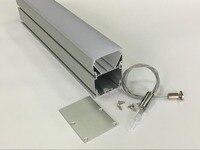 Высокое качество 1,8 meters/pcs 30 шт./лот U форма алюминиевый профиль для светодиодные ленты огни трек канала