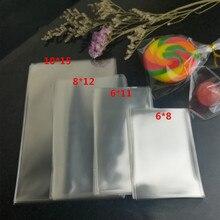100 шт прозрачные маленькие пластиковые пакеты для конфет, леденцов, печенья, упаковочный целофан, сумка для свадебной вечеринки, поли полипропиленовый подарочный пакет