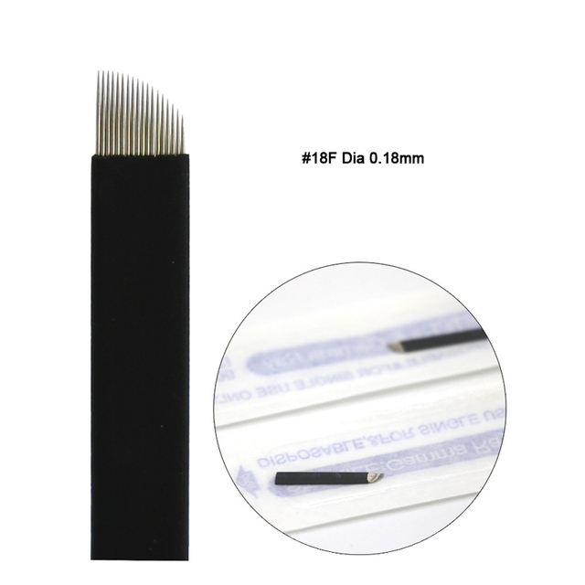 Extremely Thin 0.18mm Nano blades microblading needles Permanent Makeup Eyebrow Tattoo Needle Blade Microblade 3D Embroidery 3