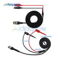 Cable de sonda de Clip P1007 P1011 BNC Q9, conector macho a Dual, dos Mini sondas, 500V, gancho de prueba, accesorios de osciloscopio