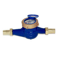 1pc DN20 3/4 Garden Home Cold Water Meter Brass Single Water Flow Dry Table Measuring Tools 19*9*10cm
