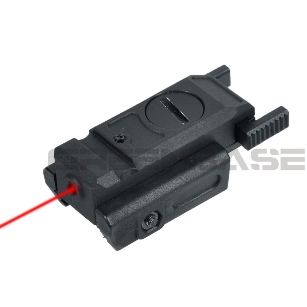 "Greenbase Low Profile Red Laser Sight Tactical Laser Pointer Airsoft Pistol 20mm Picatinny Weaver Mount & 3/8"" Dovetail Mount"