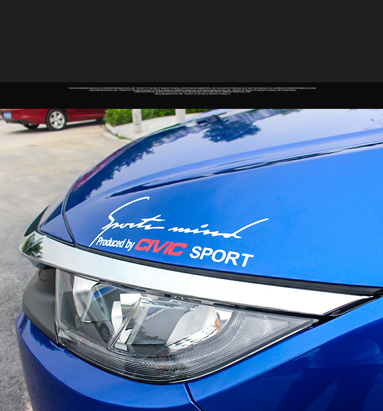 1 pcs Vinyl Sports Mind Car Sticker Auto Eyelashes Decal Emblem For Honda CIVIC