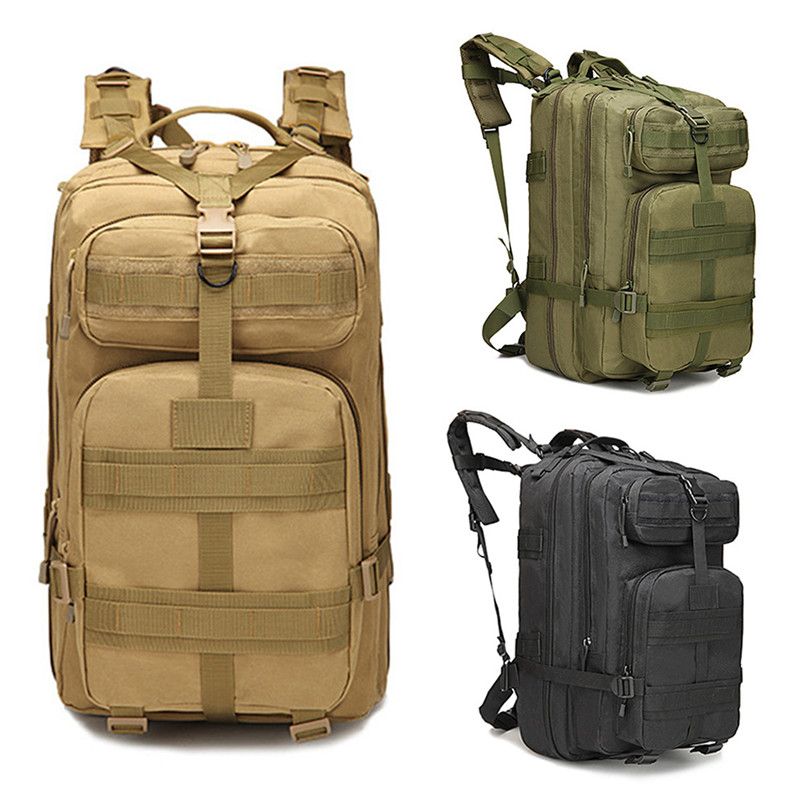 все цены на 35L Nylon Tactical Outdoor Camouflage Hiking Climbing Camping Travelling Bag Backpack Army Green durable breathable онлайн