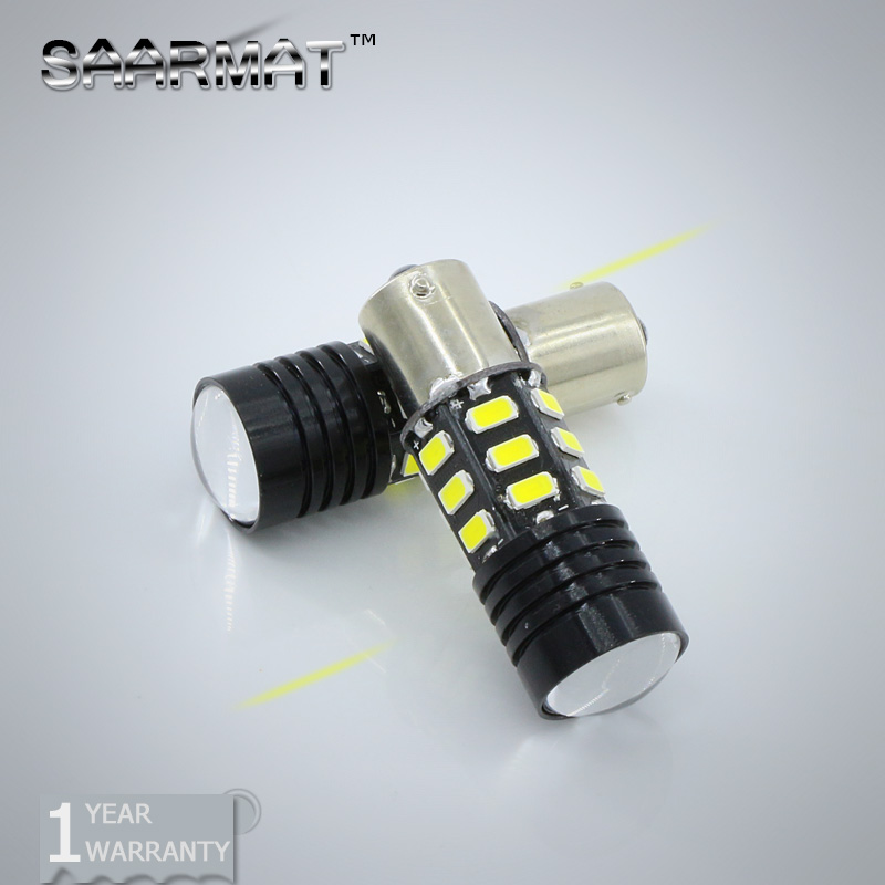 2x 1156 BA15S P21W Error Free For CREE Chips+SAMSUNG Chip Car LED Bulb Backup Reverse Light Lamps For AUDI BMW VW Mercedes-Ben ruiandsion 2x75w 900lm 15smd xbd chips red error free 1156 ba15s p21w led backup revers light canbus 12 24vdc