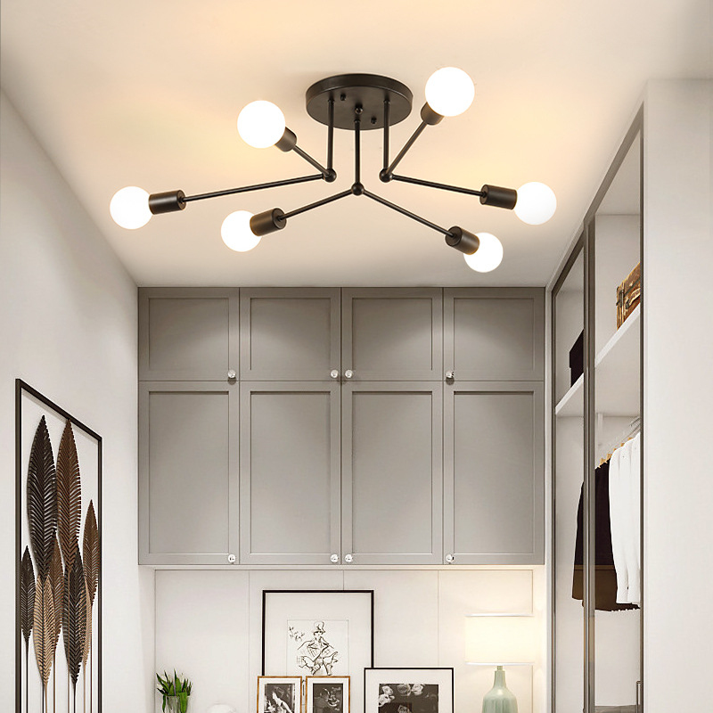 Nordic Modern Simplicity Creative Iron Chandelier E 27 High Quality Many Head Holiday Lights Living Room/Restaurant  CENordic Modern Simplicity Creative Iron Chandelier E 27 High Quality Many Head Holiday Lights Living Room/Restaurant  CE