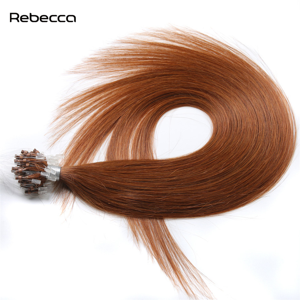 Rebecca Hair 30 Color 1g Strands 50Strands set 16 24inch Micro Loop Ring Human Hair Extension