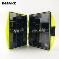 Kesaike 다기능 낚시 태클 박스  낚시 빛나는 비즈 + 싱커 + 후크 낚시 액세서리 방수 도구 세트 박스