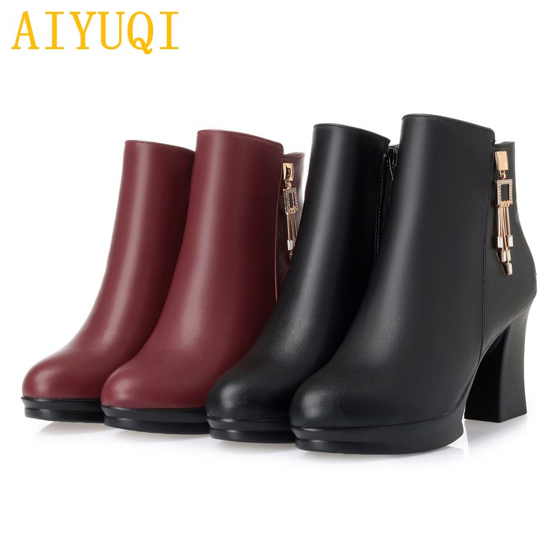 0496e1646d13c AIYUQI Women boots 2018 winter new genuine leather female snow boots ...