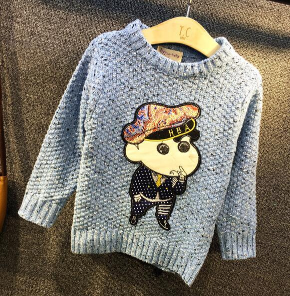 2016 children boys and girls Autumn and winter new children 's girl and boy clothing cartoon sweater base sweaters pullovers