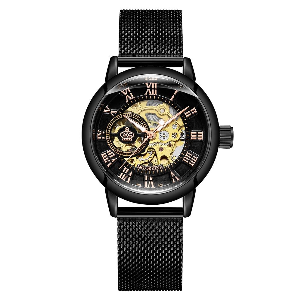 Image 3 - New Fashion Luxury Brand Skeleton Women Mechanical Watch Watch women Automatic Mechanical Watches for women Montre FemmeWomens Watches   -