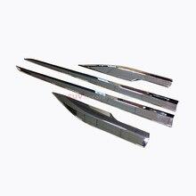 Voiture-styling Accessoires Nouveau!!! pour Toyota C-HR 2016-2017 acier Inoxydable Côté corps de moulage Couverture Garniture 4 pcs Accessoires