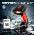 Frete Grátis! Sem Fio Bluetooth Handheld 2D Barcode Scanner Leitor de Código De Barras QR PDF417 Para IOS Smartphone Android
