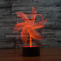 7 color Holiday Atmosphere Decorative Big Pinwheel Lighting Gadget Home Table NightLight 3D Lamp