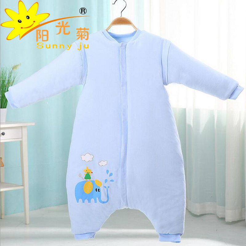 Sunny Ju Baby Sleeping Bag Winter Legs Infant Sleepsacks Toddler Sleep Sack Thick Warm Cotton Kids Anti-kick Quilt Size M,L ju m chrysanthemum tea herbal tea stone ju m premium ju m 50g