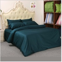 1 Pcs Duvet Cover Set Luxury Design Flat sheet 1000 Thread Counts 100% Egyptian Cotton Solid Color (Without Comforter)