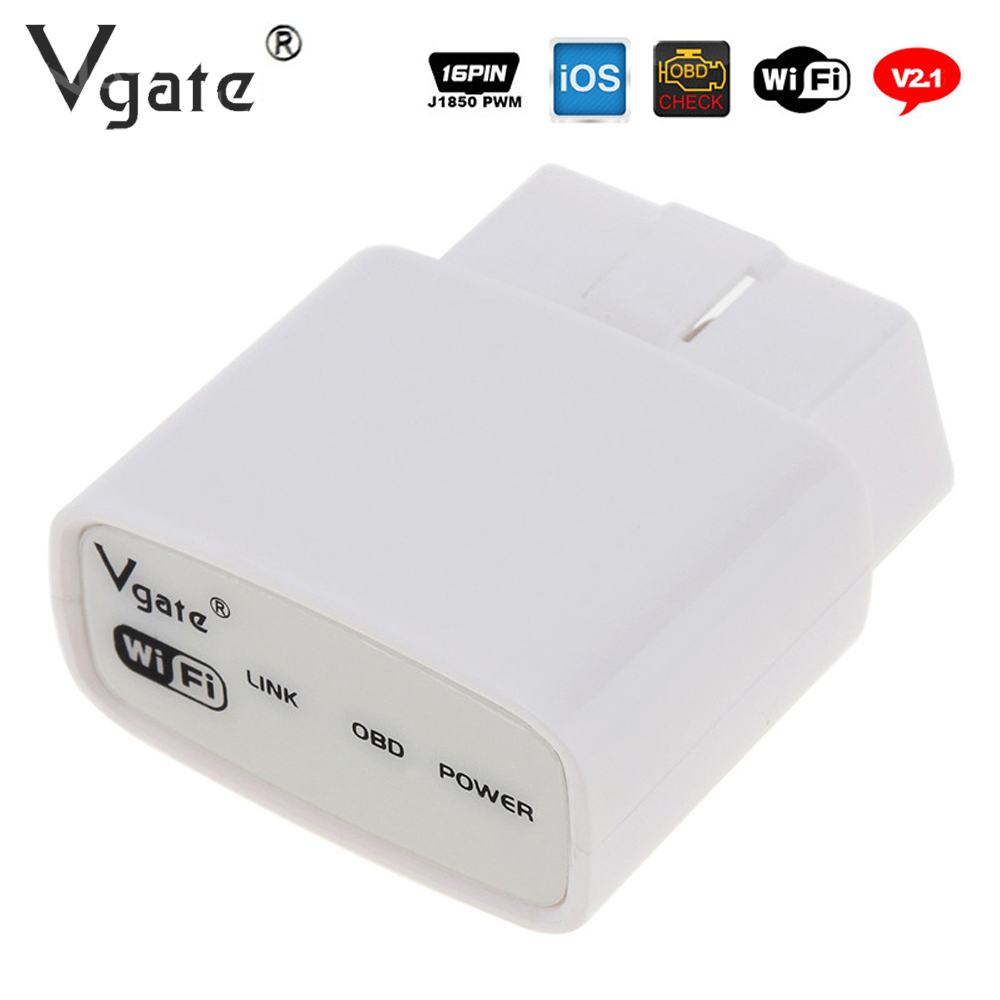 Vgate ELM327 Interface iCar Wifi Scanner Code Reader Outil De Diagnostic ELM 327 ODB2 OBDII Protocole Soutien Android IOS iPhone iPad
