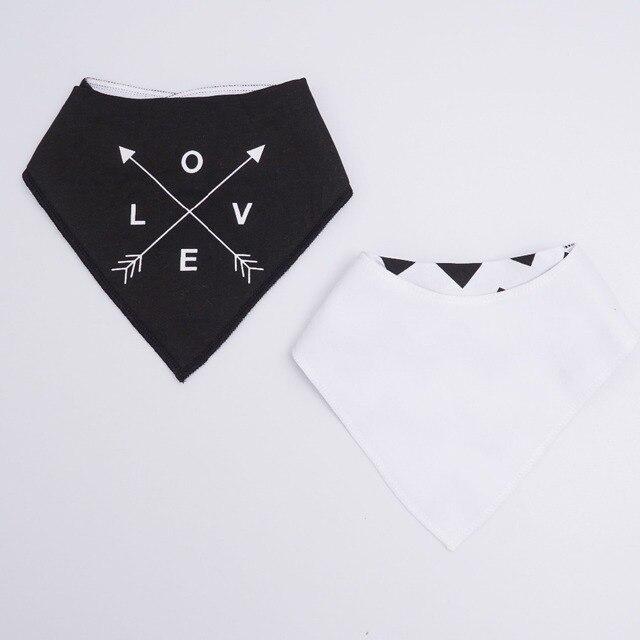 Muslin life 20 styles 4pcs/lot bibs burp cloth print Arrow wave triangle baby bibs cotton bandana accessories 4