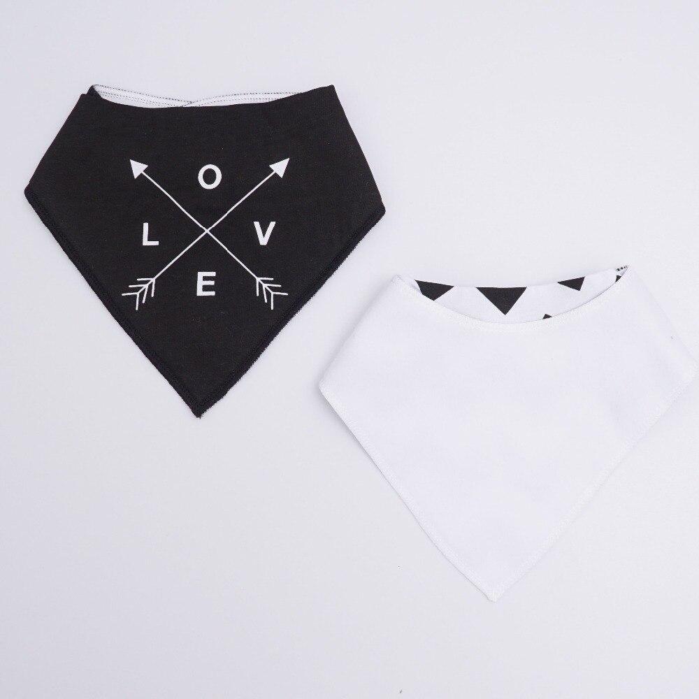 Muslin Life 20 Styles 4pcs/lot Bibs Burp Cloth Print Arrow Wave Triangle Baby Bibs Cotton Bandana Accessories