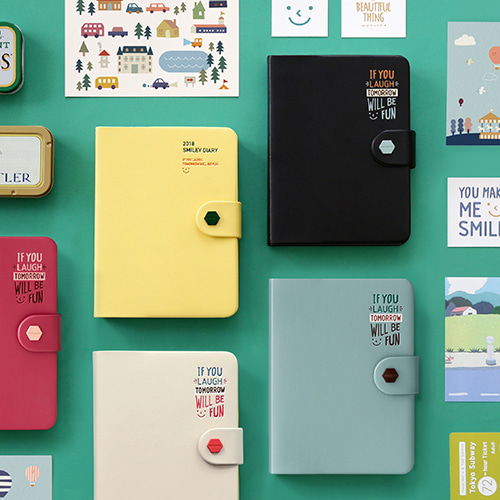 2018 Super mignon drôle 365 jours journal livre épais quotidien planificateur Pack 12*16 cm 448 P toutes les feuilles colorées créatif étudiants cadeau