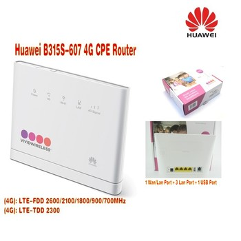 Huawei B315s-607 LTE FDD700 900 1800 2100 2600 Mhz TDD2300Mhz telefon bezprzewodowy VOIP Router tanie i dobre opinie 150 mbps Firewall Wi-fi 802 11g Bezprzewodowy dostęp do internetu 802 11n Wi-fi 802 11b 2 4g i 5g Domu wireless Stock 150Mbps