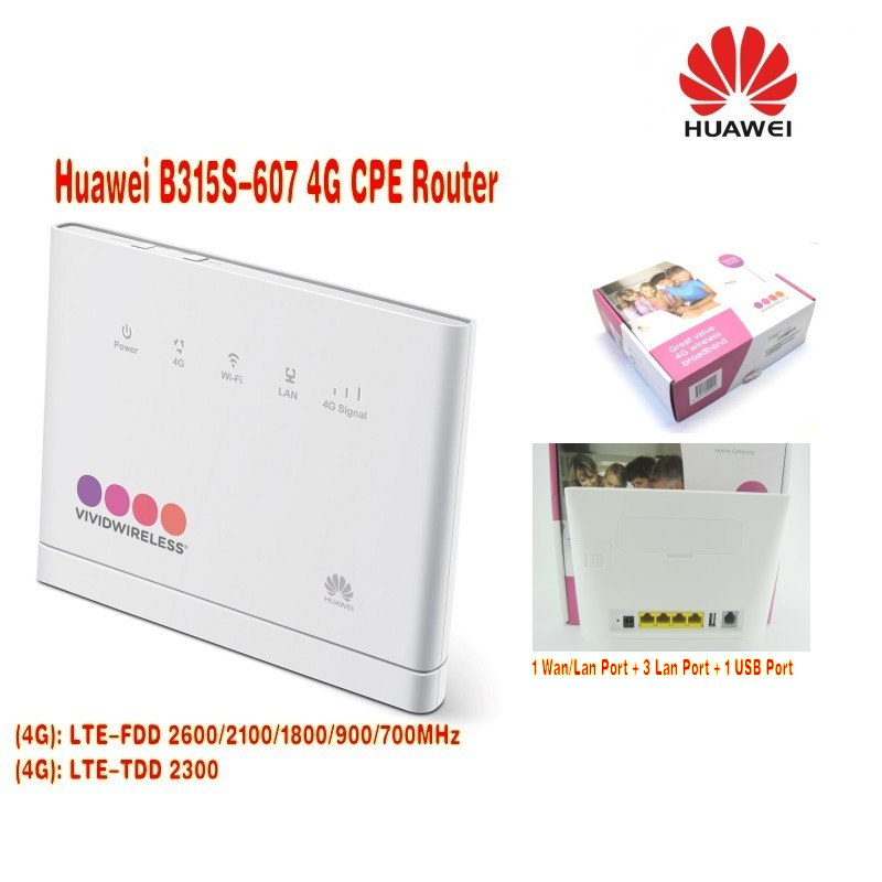 Huawei B315s-607 LTE FDD700/900/1800/2100/2600Mhz TDD2300Mhz Mobile Wireless VOIP Router