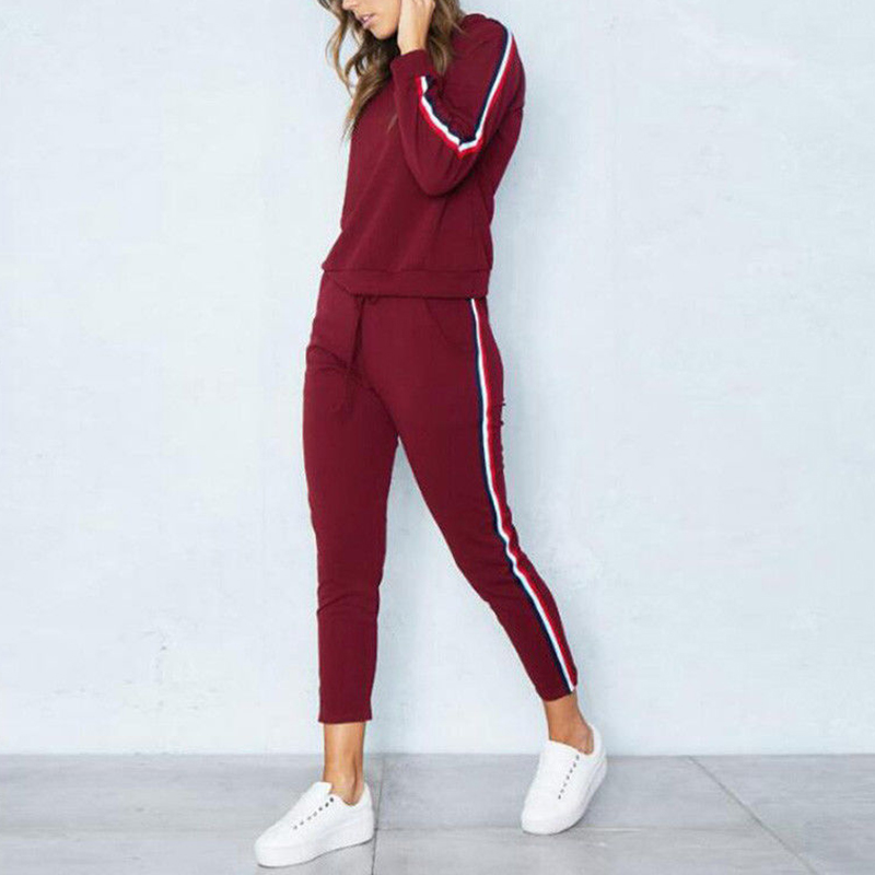 2019 Spring Tracksuit Long Sleeve O-Neck Sweatshirt + Harem Pants 2Piece Set Sport Loungewear Tunic Suits Womens Tracksuit Sets