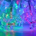 5 М 20 Led Свет Рождества Партия Декор Бесцветные Водонепроницаемый Строка Свет Красочный Фея Свадьба Рождественские Огни На Открытом Воздухе