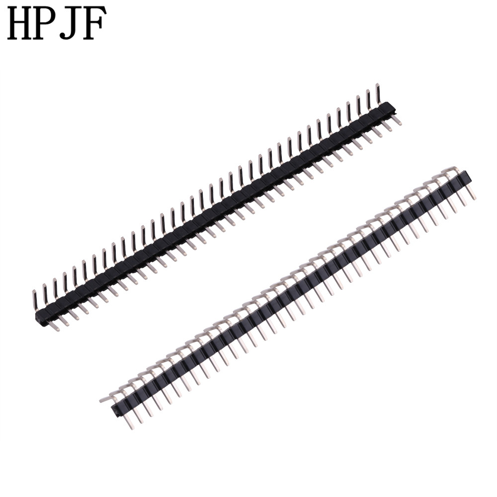 10pcs Pitch 2.0mm 40 Pin 1x40Pin Right Angle Single Row Male Breakable Pin Header Connector