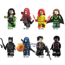 Single Super Hero Building Blocks Hope Deadpool Catwoman Red Arrow Firestar Black Mamba Mister Terrific toys for children(China)