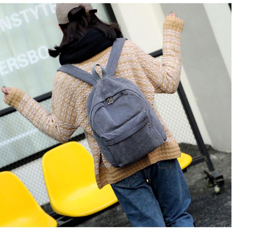 HTB16EiEe1kJL1JjSZFmq6Aw0XXa6 Women Backpack Youth Small Solid Casual Backpacks Students School Bag Teenage Girls Vintage Laptop Bags Rucksack Mochila
