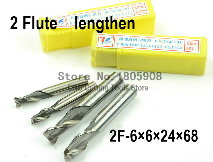 10pcs 6mm Two 2 Flute HSS /& Aluminium End Mill Cutter CNC Bit
